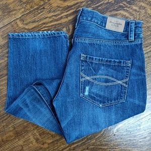 Abercrombie & Fitch Boyfriend Jeans Blue Denim